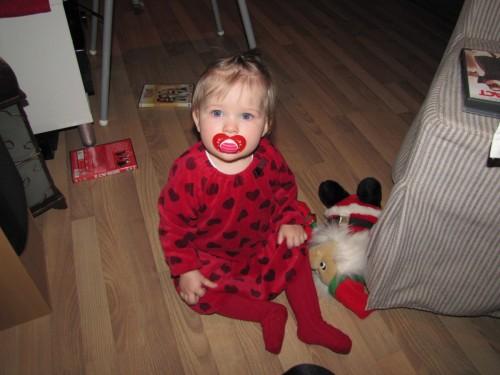 Jultjej - jultomten var intressant och ganska läskig...